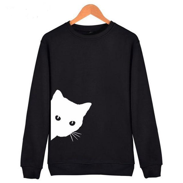 Cat Looking Out Side Hoodie - Fashionz Shop