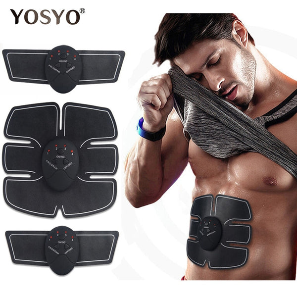 EMS Wireless Muscle Stimulator Trainer Smart Fitness Abdominal Training Electric Weight Loss Stickers Body Slimming Belt Unisex,,Fashionz Shop,Fashionz Shop