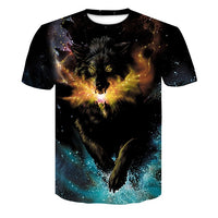 Wolf 3D Print T-shirt - Fashionz Shop