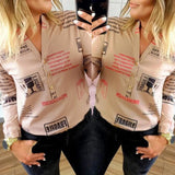 Chic Design Printed Long Sleeve Blouse - Fashionz Shop