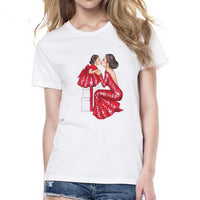 Women's Colorful Print Short-Sleeve T-Shirt - ''Mother's Love'' - Fashionz Shop