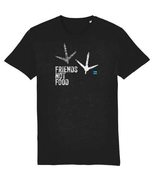 Friends Not Food T-Shirt (Chicken) - Blacktivism