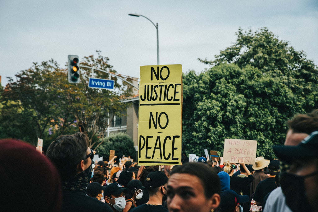 Black Lives Matter protest: No Justice, No Peace.