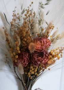 Natural dried flower posy
