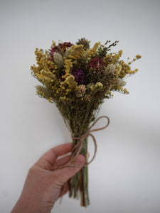 Dried flower posy