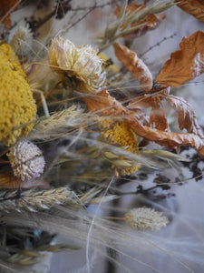 Rustic dried flowers