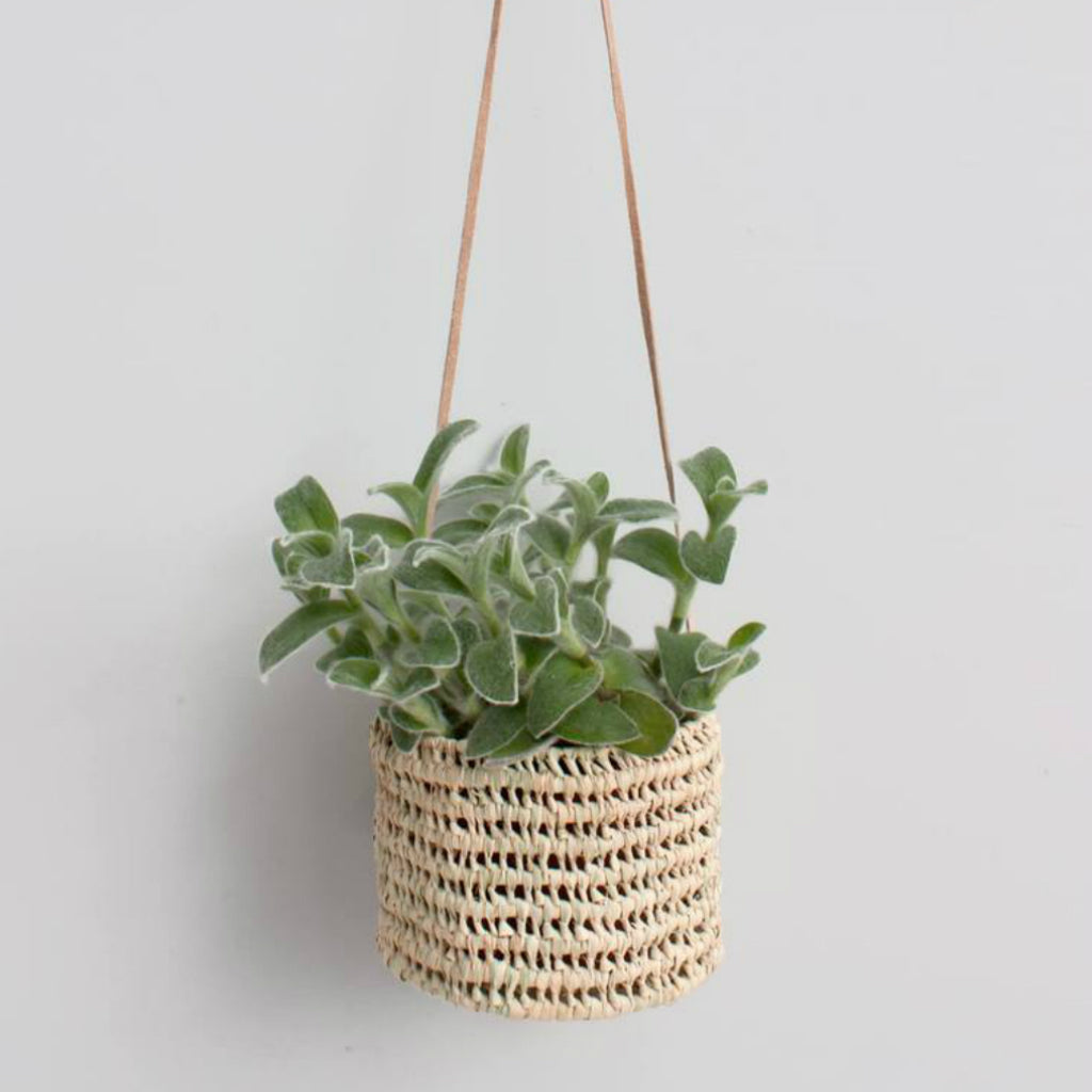 OPEN WEAVE HANGING BASKET