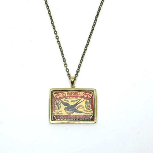 VINTAGE MATCHBOX 'SWALLOW' PENDANT