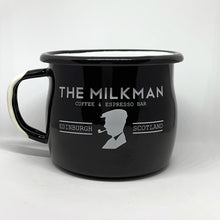 THE MILKMAN ENAMEL MUG, BLACK