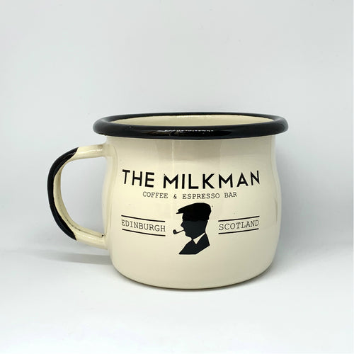 THE MILKMAN ENAMEL MUG, CREAM