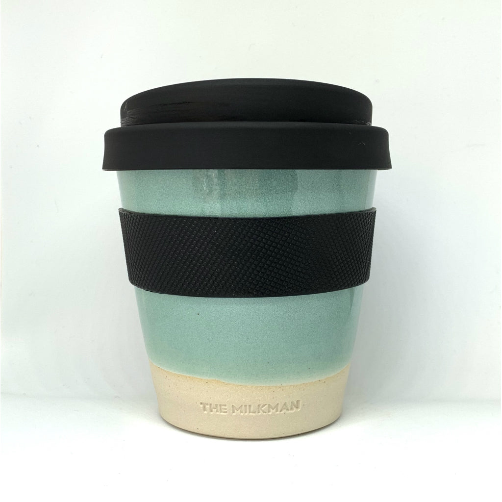 THE MILKMAN HANDMADE CERAMIC KEEP CUP, GREEN