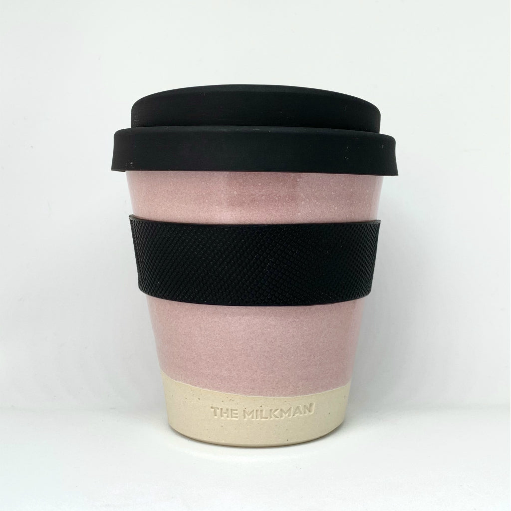 THE MILKMAN HANDMADE CERAMIC KEEP CUP, PINK