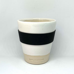 THE MILKMAN HANDMADE CERAMIC KEEP CUP, WHITE