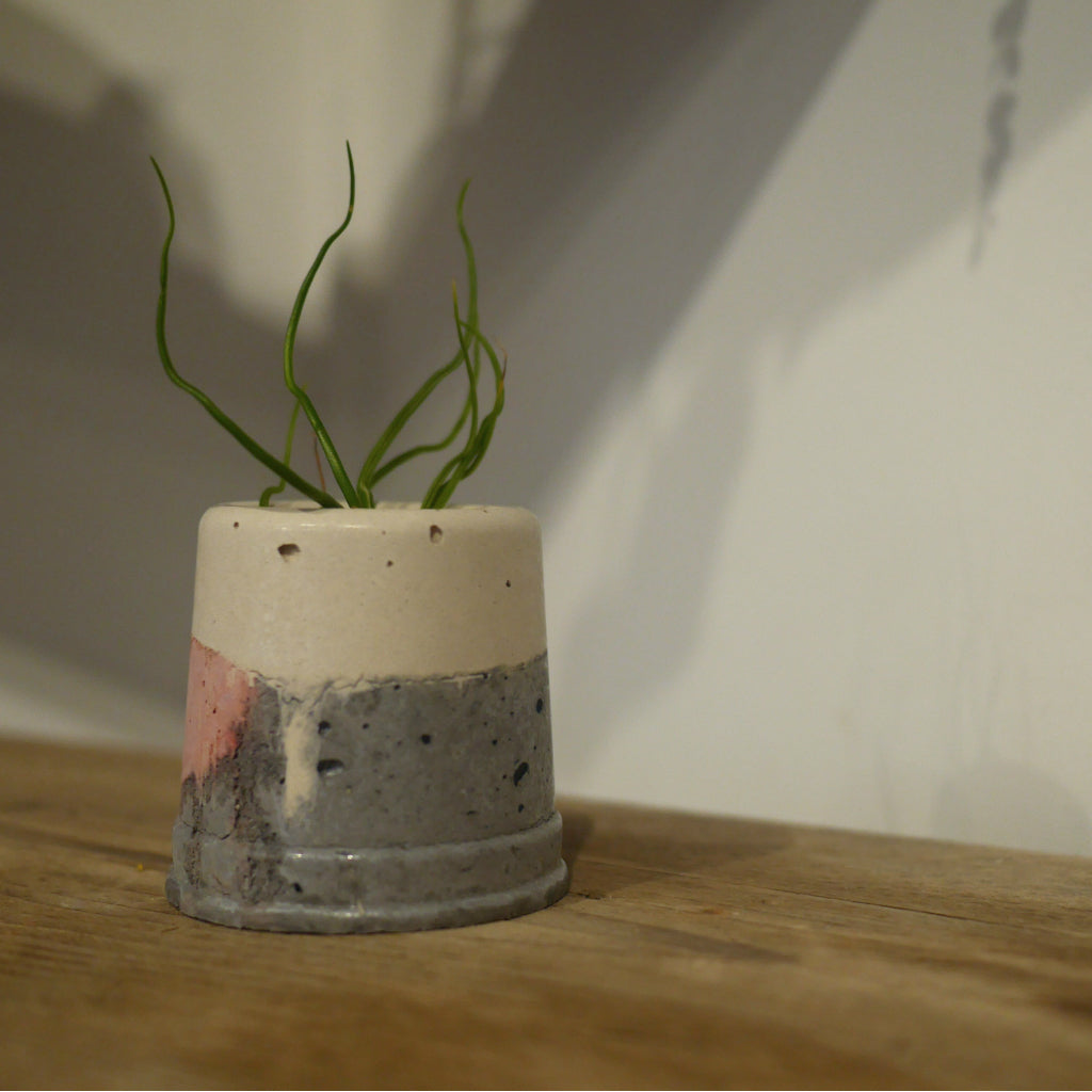 HANDMADE  'UPSIDE DOWN' CONCRETE VESSEL