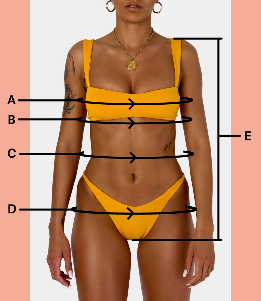 BIKINI DOLLS Swimwear Body Measurments