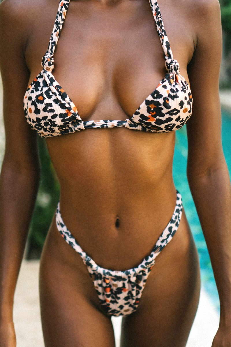 Cindy Top - Peachy Leopard