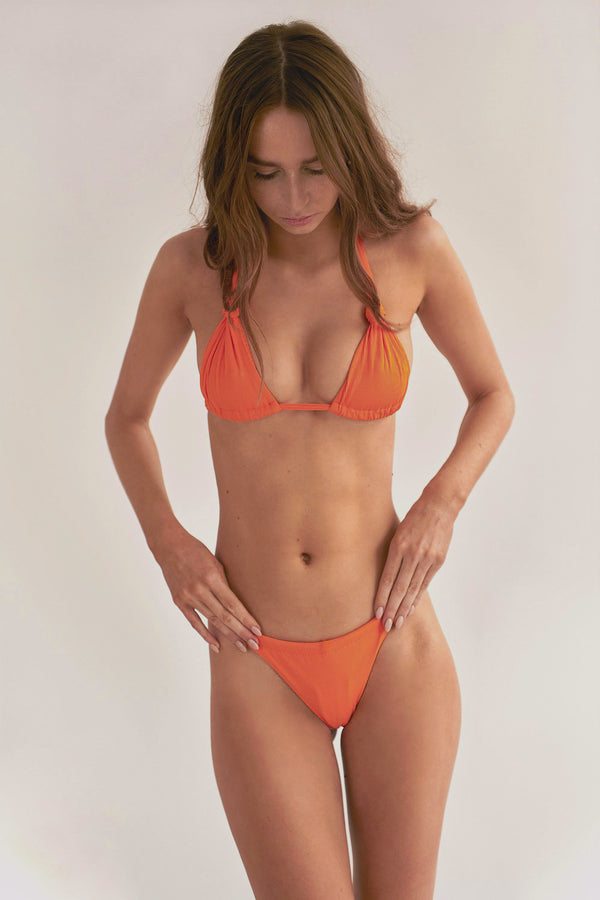 Cindy Top - Orange Rib