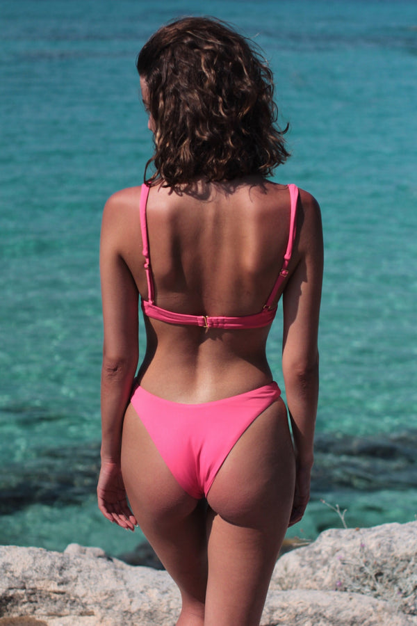 Naomi bikini bottom in Watermelon Pink
