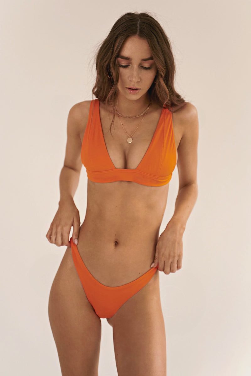 BIKINI DOLLS Naomi high-cut bikini bottom in Orange
