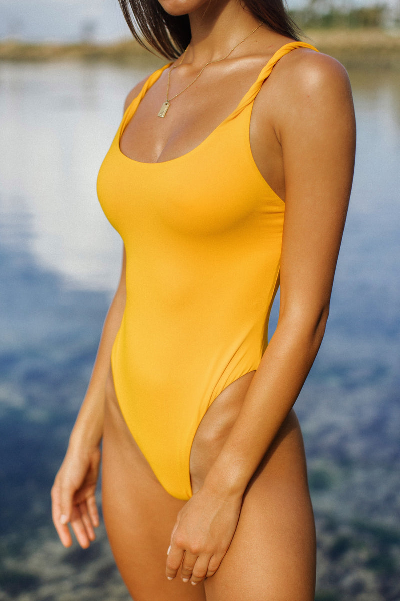 Twisted One Piece - Sunflower Yellow