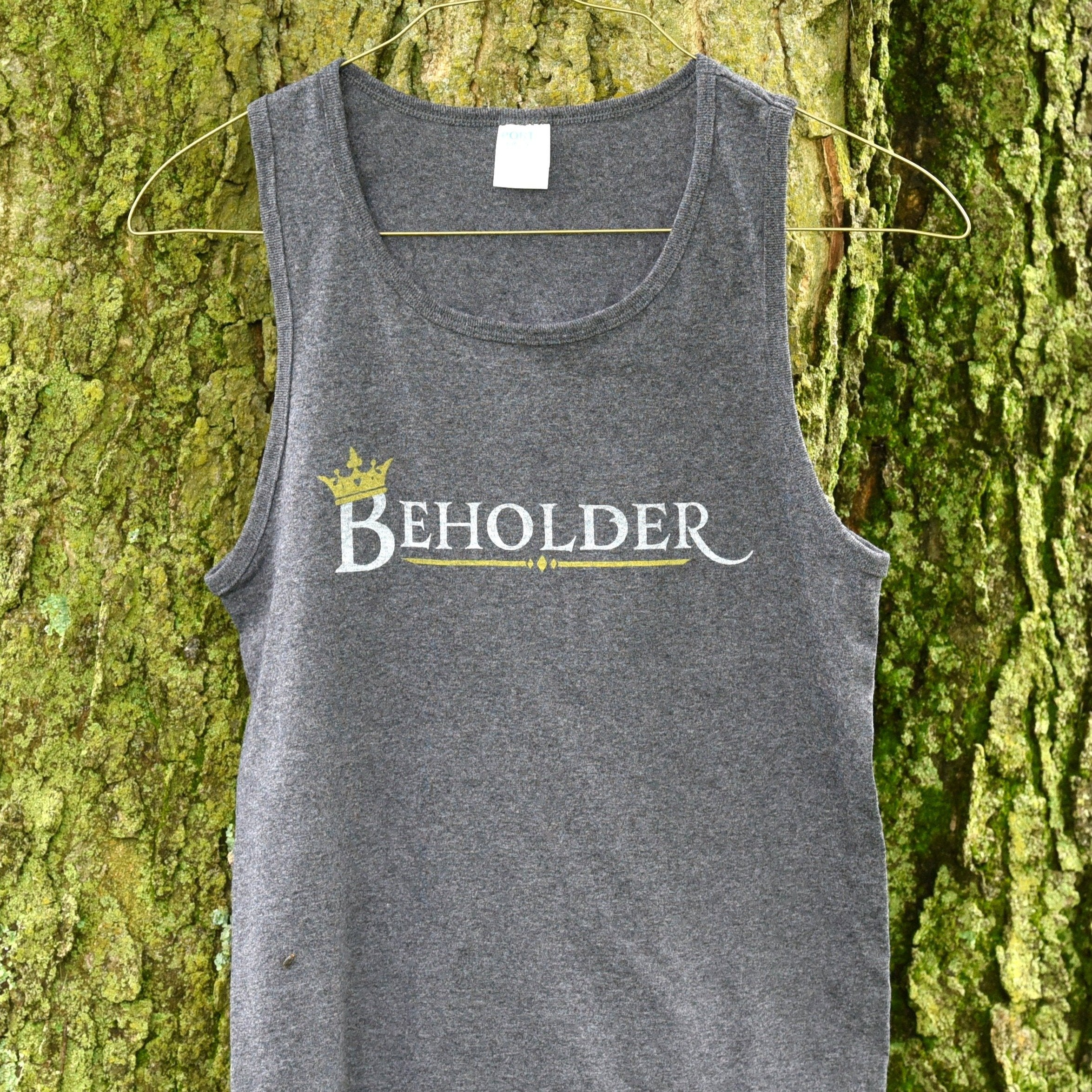 The Beholder Unisex Tank Top - Grey