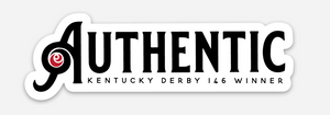 The Authentic Kentucky Derby Champion Sticker