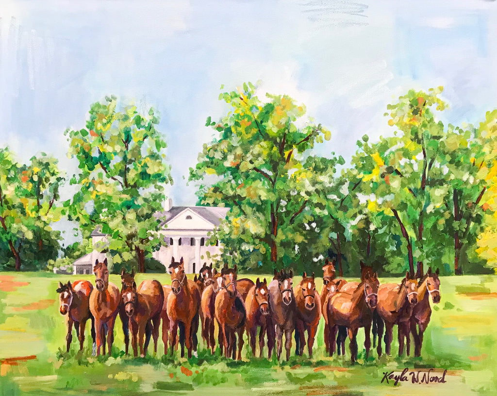 """Spendthrift Farm"" painting"