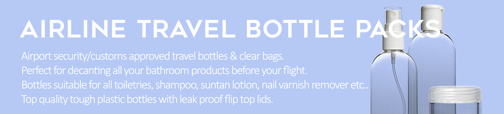 Airline Travel Bottle Packs