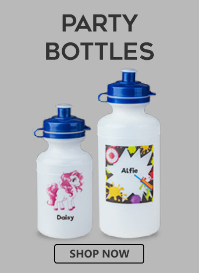 buy personalised drinks bottles for children's parties