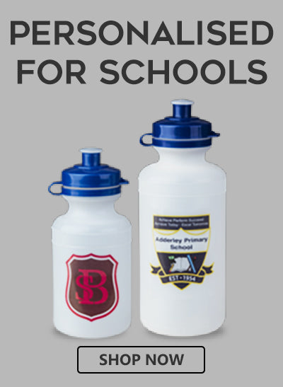 buy personalised water bottles for schools with your school logo