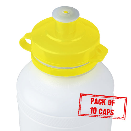 Yellow Bottle Caps x10 for drink bottles