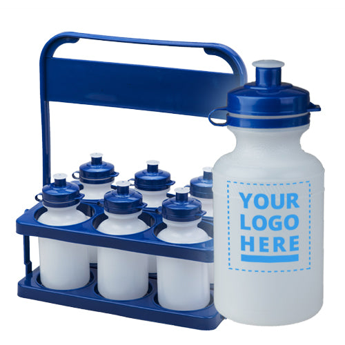 Carrier Pack Plain / Clear Bottle - 300ml upload your own logo