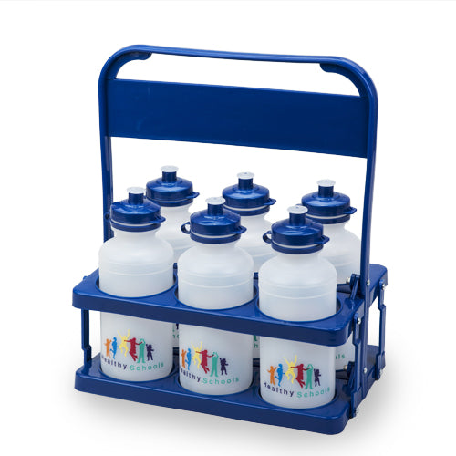 Bottle Carrier Pack with 6x 500ml School Bottles