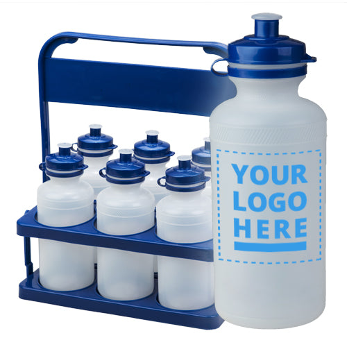 Carrier Pack Plain / Clear Bottle with 6x 500ml upload your own logo