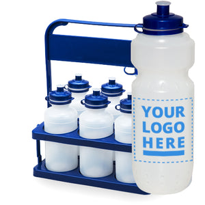 Carrier Pack Plain / Clear Bottle with 6x 700ml upload your own logo