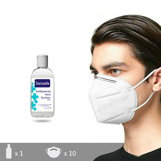 KN95 face mask and hand gel pack