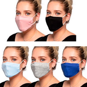 Mixed Colours- Cotton Face Mask - Reusable/Washable - Wholesale Box