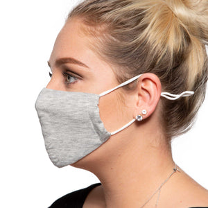 Grey Cotton Face Mask - Reusable/Washable - Wholesale Box
