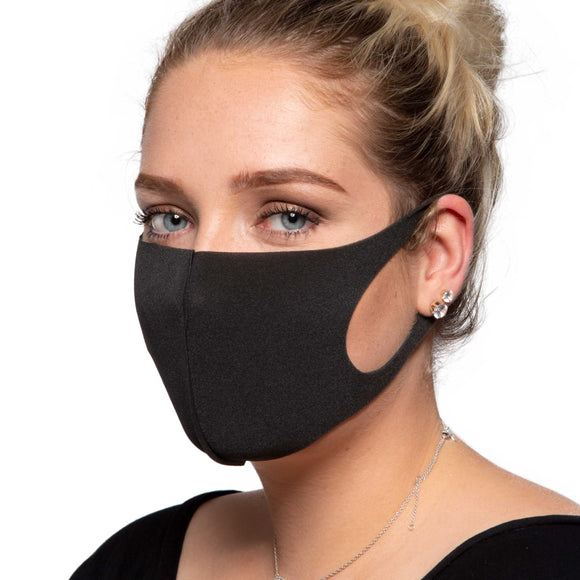 Black Face Mask - Reusable/Washable - Wholesale Box