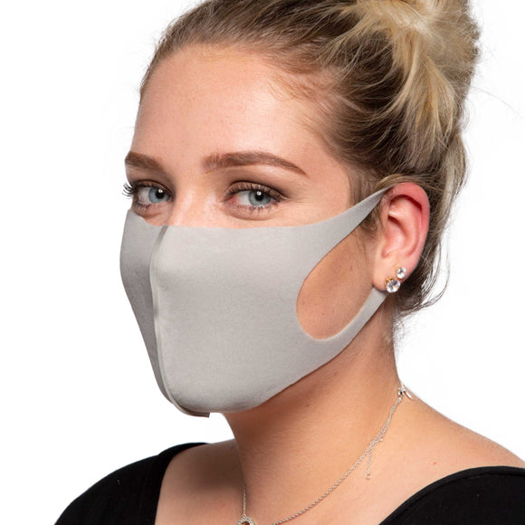 Grey Face Mask - Reusable/Washable - Wholesale Box