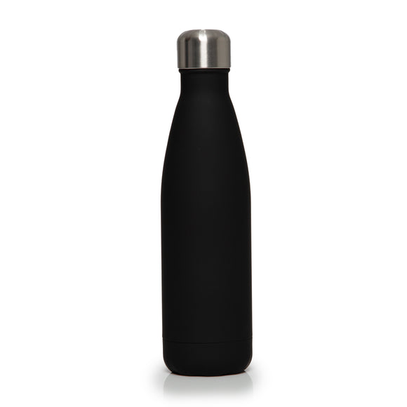 Stainless Steel Insulated Metal Sport & Gym Drinks Flask 350ml/500ml - Black