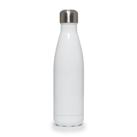 Stainless Steel Insulated Metal Sport & Gym Drinks Flask 350ml/500ml - Gloss White