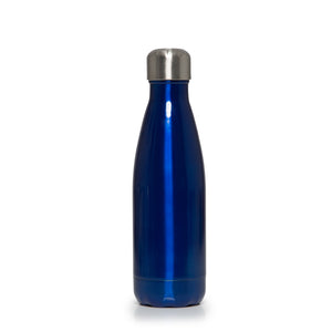 Stainless Steel Insulated Metal Sport & Gym Drinks Flask 350ml/500ml - Blue Metallic