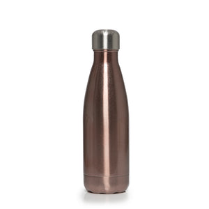 Stainless Steel Insulated Metal Sport & Gym Drinks Flask 350ml/500ml - Rose Gold Metallic