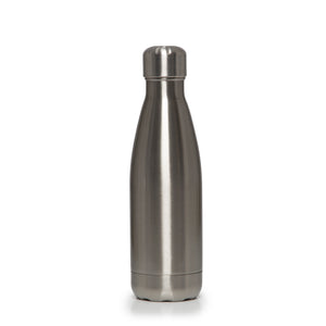 Stainless Steel Insulated Metal Sport & Gym Drinks Flask 350ml/500ml - Silver Metallic