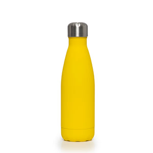 Stainless Steel Insulated Metal Sport & Gym Drinks Flask 350ml - Yellow