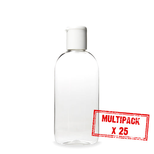 Multipack 100ml Travel Bottle with Flip Top x 25