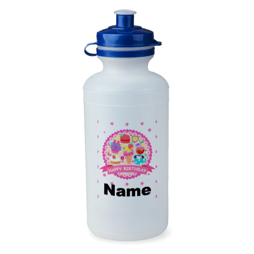 Personalised Birthday Badge Bottle - 500ml