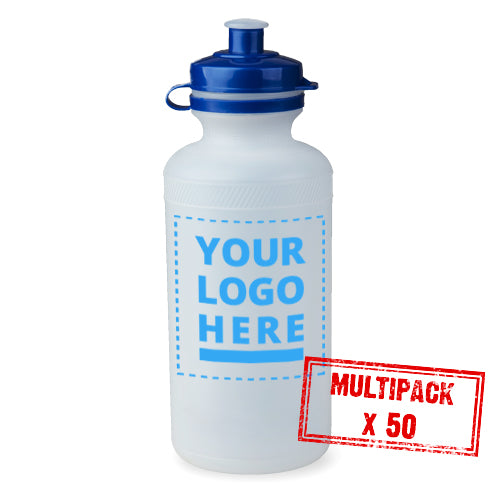Multipack Plain / Clear Bottle - 50x 500ml upload your own logo
