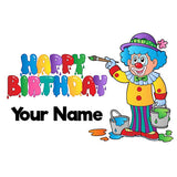 Personalised Birthday Clown Bottle - 300ml